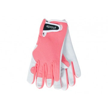 Sprout Goatskin Gloves - Coral