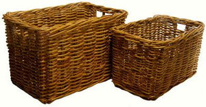 Natural Cane Log Basket - Small