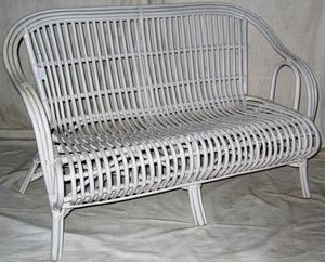 Cane Oz Chair 2.5 Seater - White