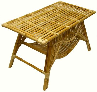 Cane Oz Table Rectangle - Natural