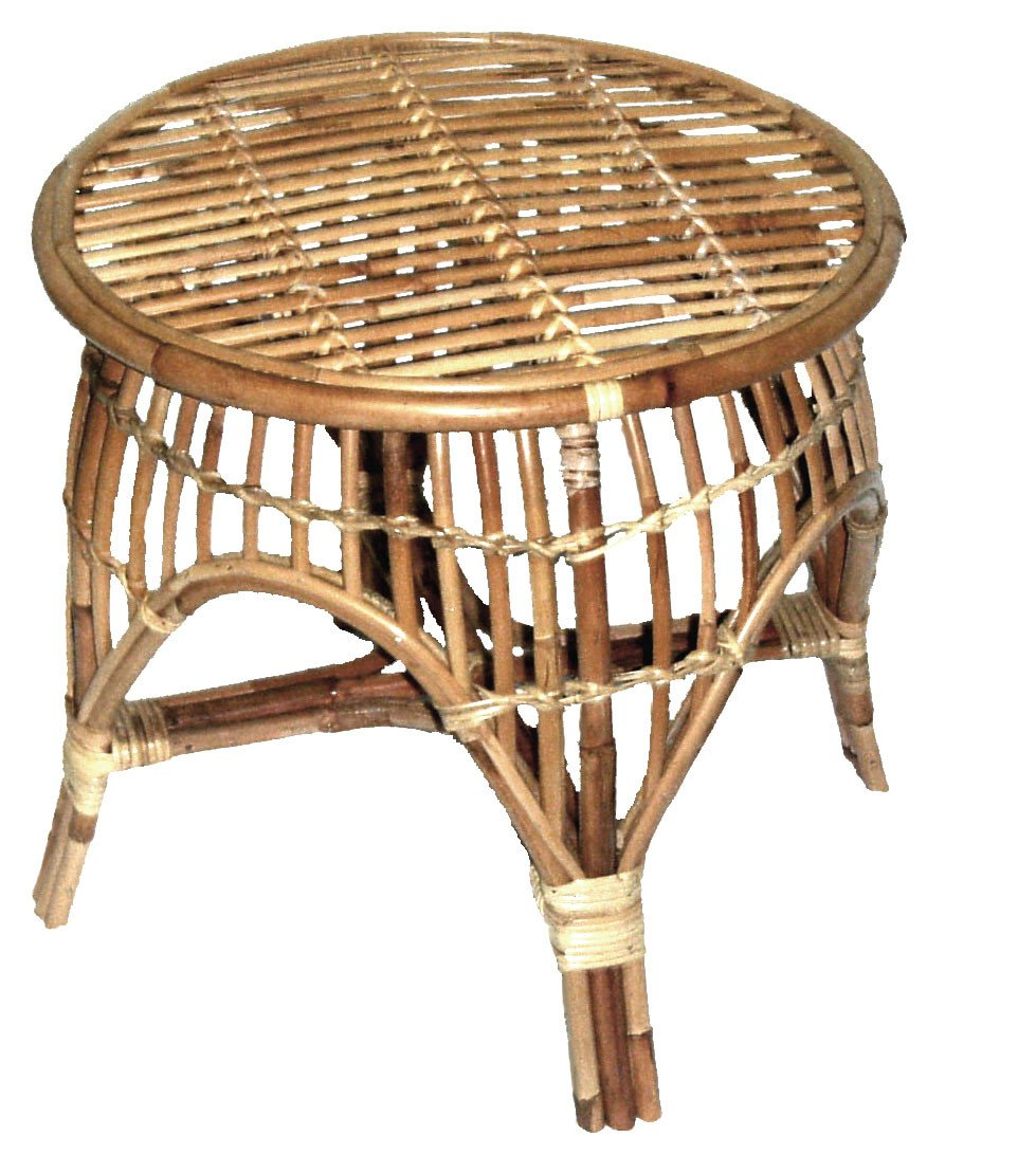 Cane Oz Rnd Table - Natural