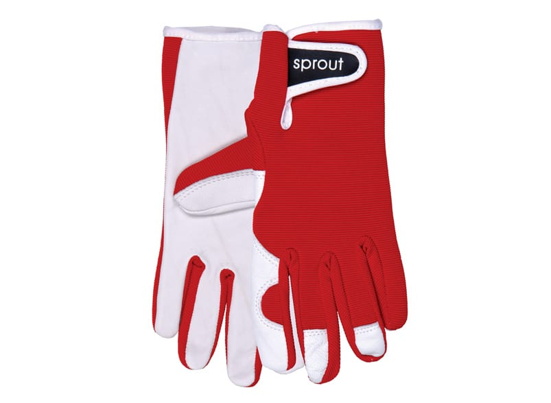 Goatskin Garden Glove - Red