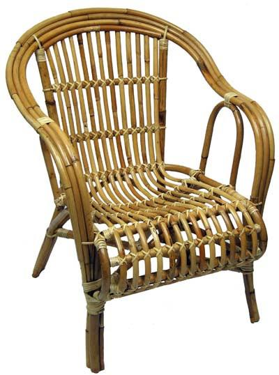 Cane Oz Chair Single - Natural
