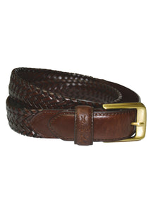 """Harry"" Leather Braided Belt"