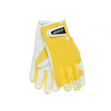Sprout Goatskin Glove - Yellow