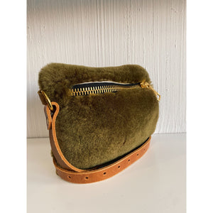 Green Velvety Belt Bag | YBH