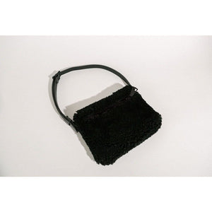 YBH - Black Shearling Bag