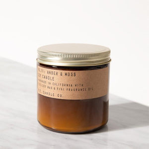 P.F. CANDLE CO. AMBER & MOSS SOY CANDLE 12.5 OZ.