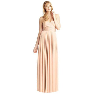 Convertible Ballgown In Peach