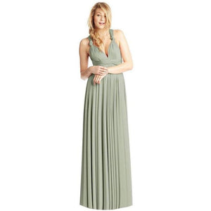 Convertible Ballgown In Sage