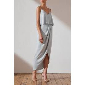 Luxe Cocktail Frill Dress | Cloud | Shona Joy