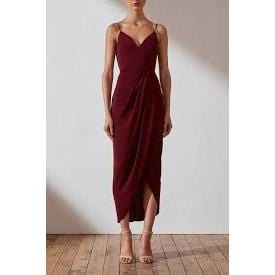 Core Cocktail Dress | Bergundy | Shona Joy