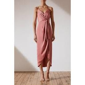 Luxe Tie Front Cocktail Dress | Rose | Shona Joy
