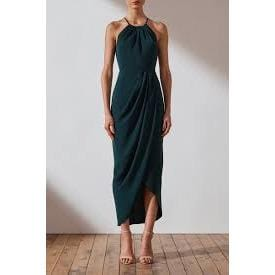 Core High Neck Ruched Dress | Shona Joy | SEAWEED