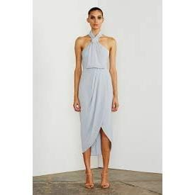 Core Knot Draped Dress | Powder Blue | Shona Joy