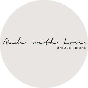 Made with Love Unique Bridal wear available at Unbridled in Courtenay BC