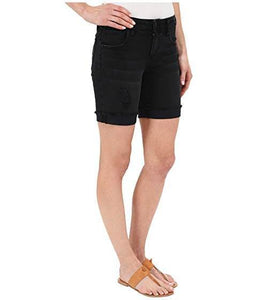 Distressed Black Boyfriend Short