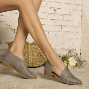 Open Side Slip On Shoe:Ash Grey