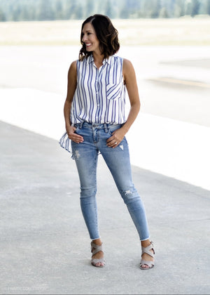 Buttoned Down in Stripes