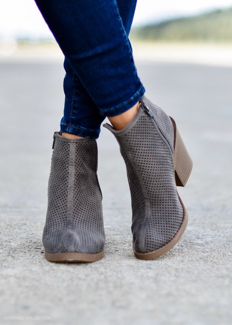 ASPEN CUT MOSS BOOTIE--FINAL SALE