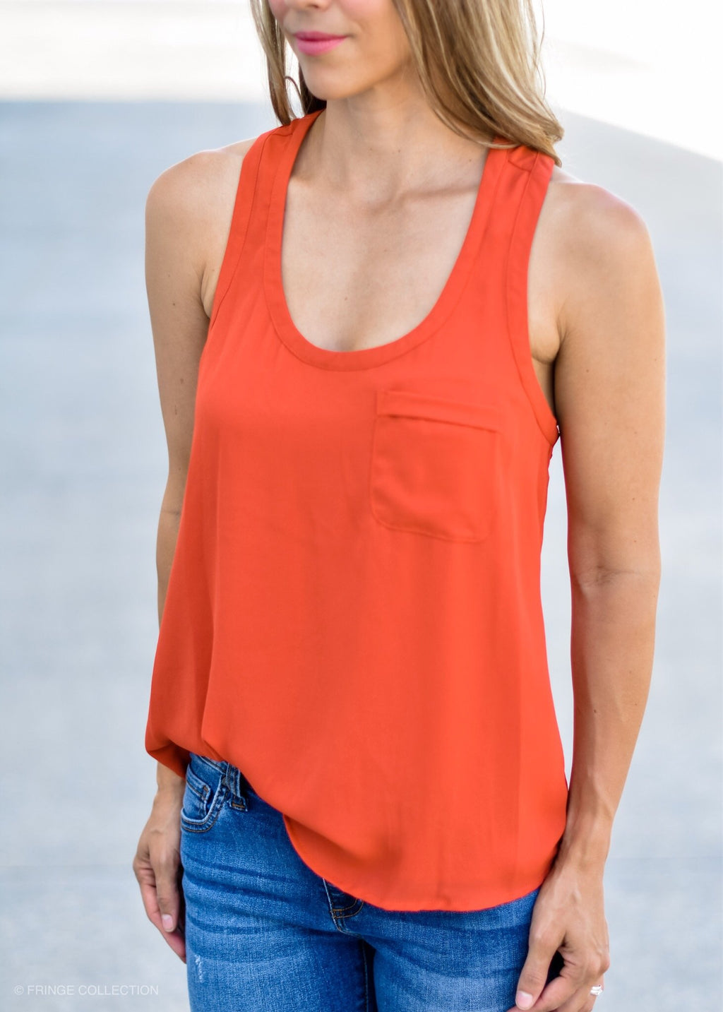 SCOOP ME UP BASIC TOP ORANGE