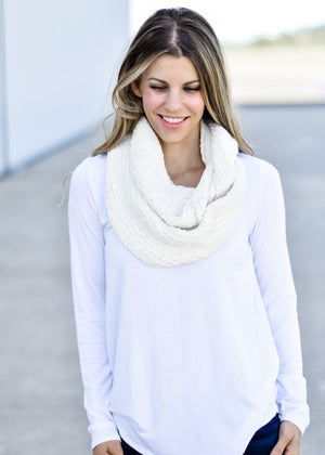 So Soft Chenille Scarf: Ivory