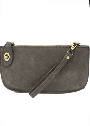 WRISTLET CLUTCH: GREY LUX