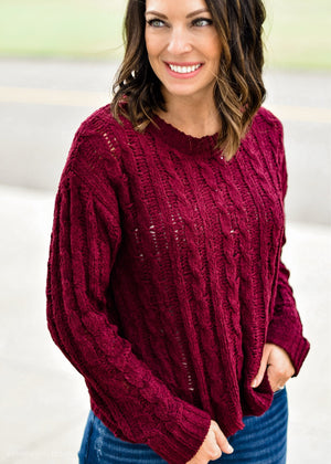 THE PERFECT KNIT: WINE--FINAL SALE