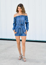 LOVE AT LAST DENIM ROMPER