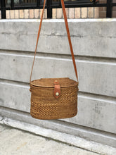 Handwoven Oval Handbag