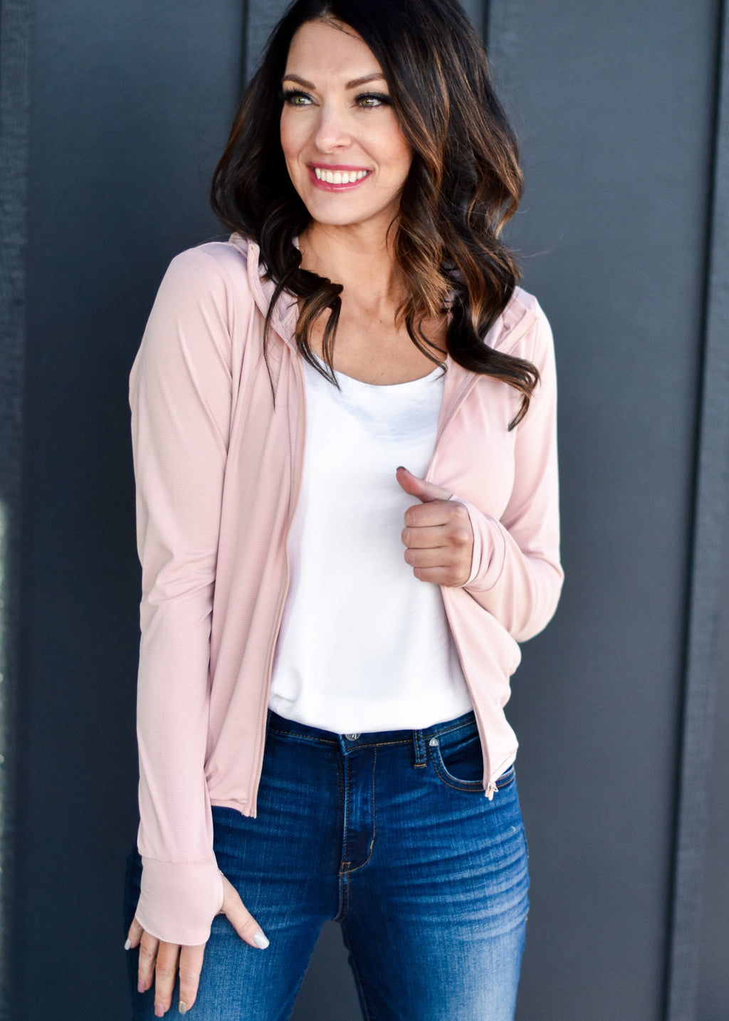 EASY WEAR JACKET: BLUSH