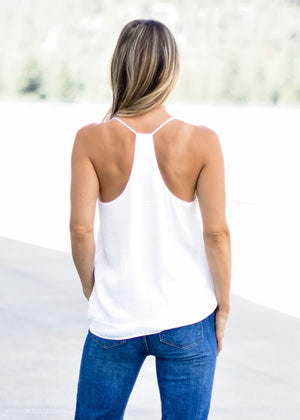 LET LOOSE TANK OFF WHITE