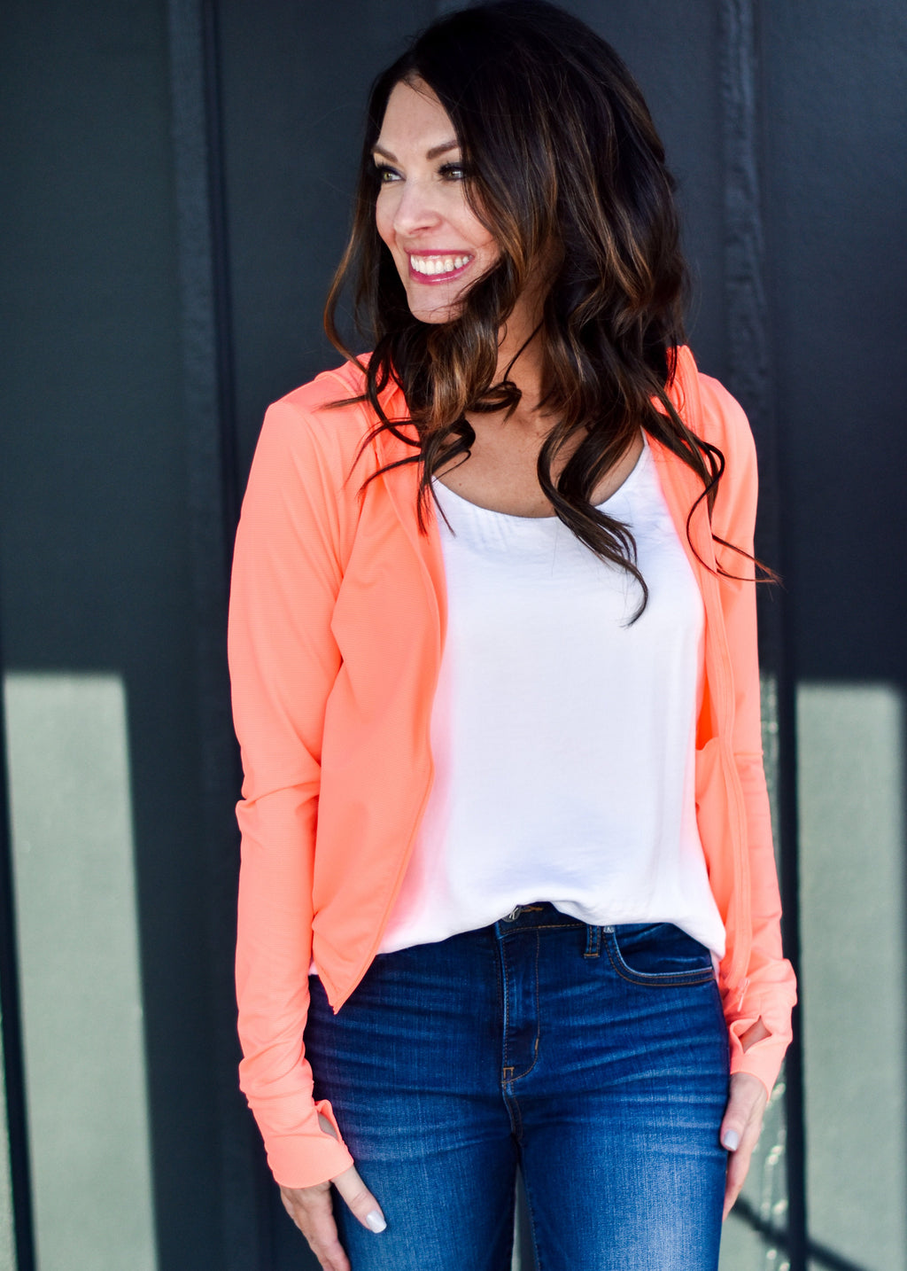 EASY WEAR JACKET: NEON CORAL