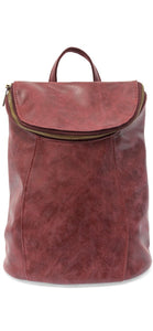 Distressed Backpack:Burgundy