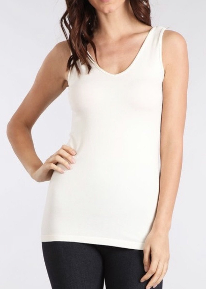 Reversible Cami - Off White--FINAL SALE