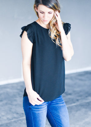 EASY MORNING BLOUSE: BLACK