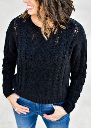 THE PERFECT KNIT: BLACK--FINAL SALE