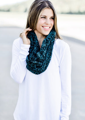 So Soft Chenille Scarf: Green