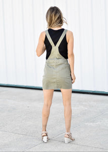 OVERALL DENIM LOVE: OLIVE