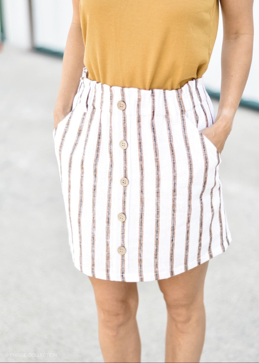 Walkin' Away Button Front Skirt