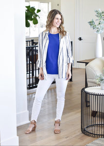 Up Town Girl Blazer: Blue