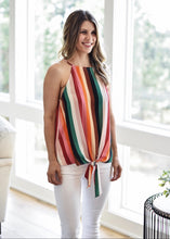 Stripes and All Tie Top:Multi