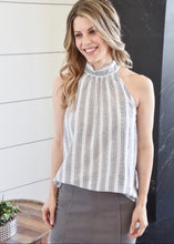 High Neck Tank: Grey