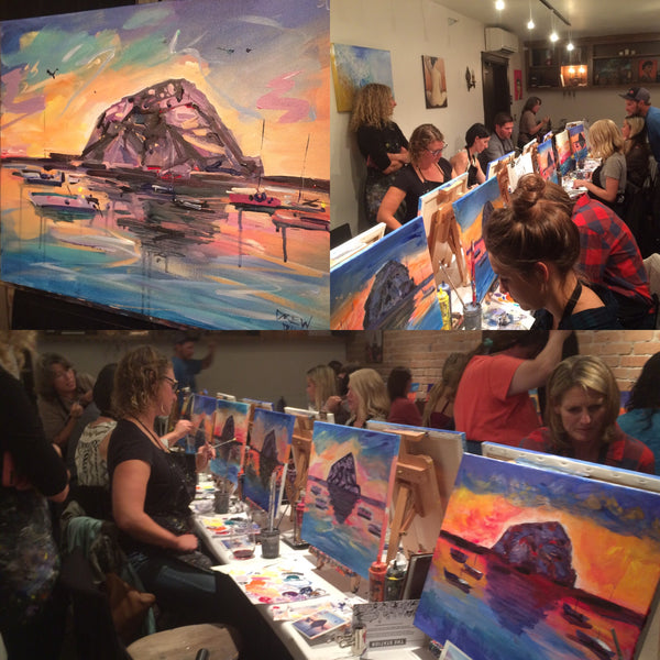Morro rock paint party in san luis obispo