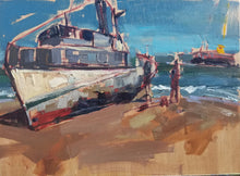 Avila Ship Wreck - Plein Air | 9x12 | Original Oil on panel
