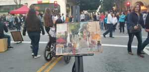 SLO Farmers Market - Plein Air | 9x12 | Original Oil on panel