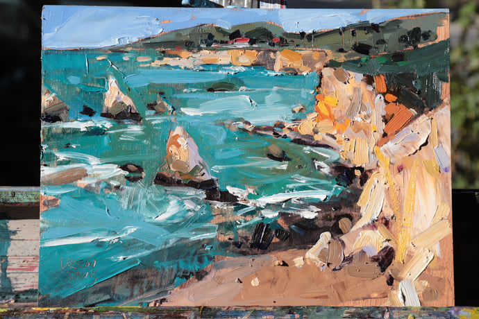 Ventana View - Shell Beach | 9x12 | Original Oil on Wood Panel