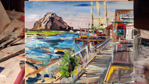 Giovannis Fish Market - Morro Bay | 9x12 | Original Oil on Wood Panel