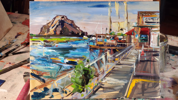 🔴 Giovannis Fish Market - Morro Bay | 9x12 | SOLD - PRINTS AVAILABLE