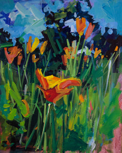 CALIFORNIA POPPIES | 16x20 | Original Acrylic Study on Canvas